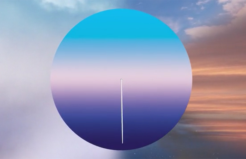 The Today clock's gradient colors were inspired by clouds passing at 30,000 feet.