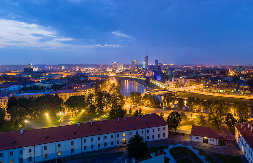 Vilnius, the capital of Lithuania is home to some 535,216 people