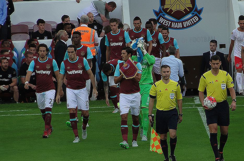 West Ham United playing an international game in 2015.