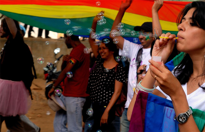 Participants at an LGBT Pride festival in Bangalore