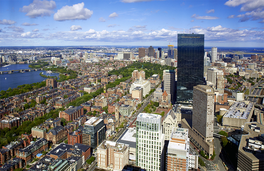 Downtown Boston as viewed from the Skywalk Observatory