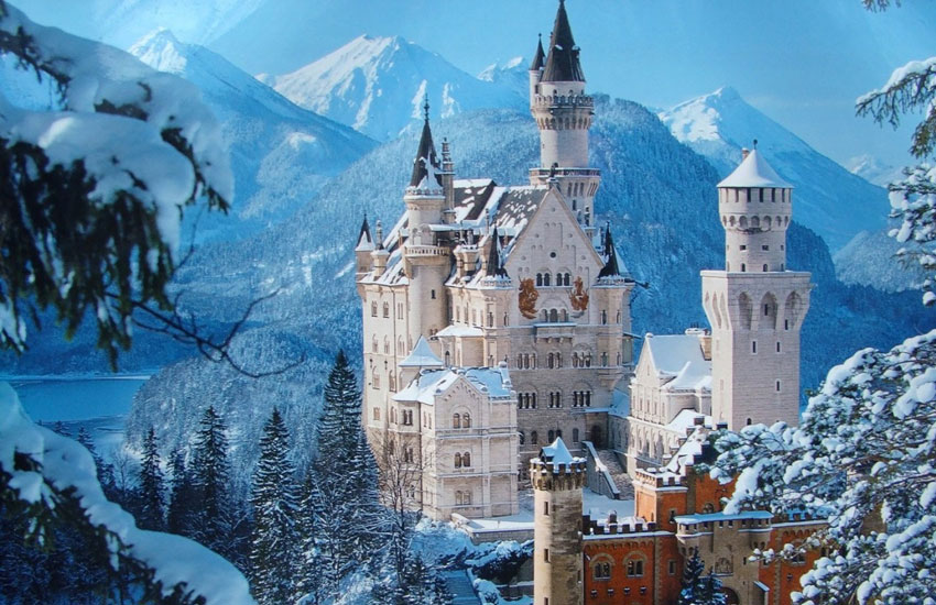 Picturesque castles such as Neuschwanstein in Bavaria are a common occurrence in Germany