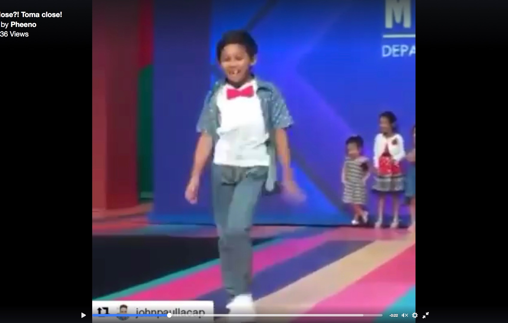 Young boy turns into crowd favorite at children's fashion show