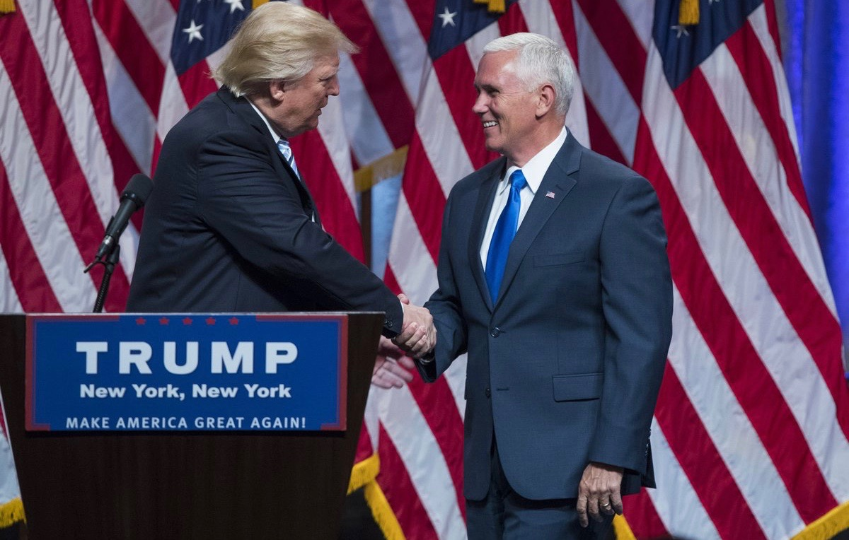 Donald Trump officially introduces his vice president running mate, Governor Mike Pence