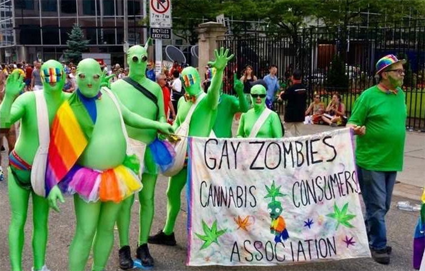 'Gay zombies' infiltrate Toronto Pride