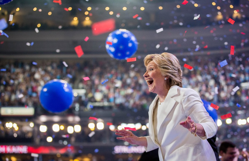 Hillary Clinton accepted the Democratic Party's presidential nomination