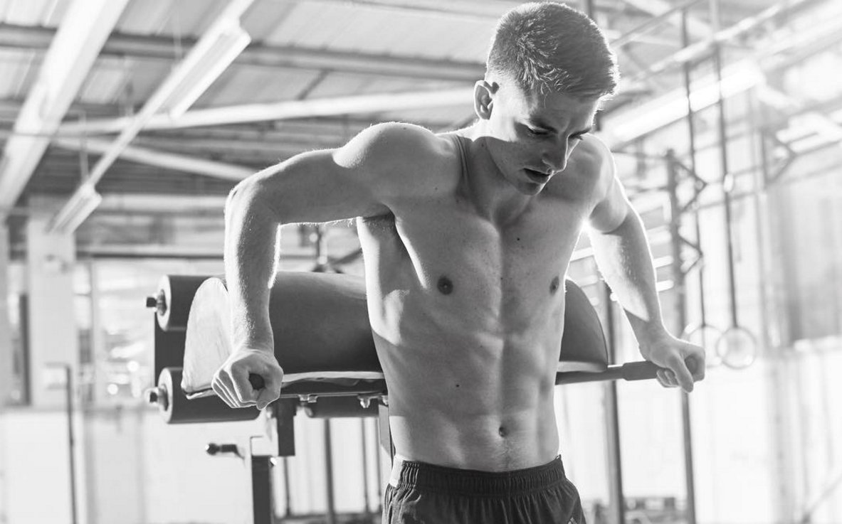 Max Whitlock also models for Adidas UK as one of their star athletes