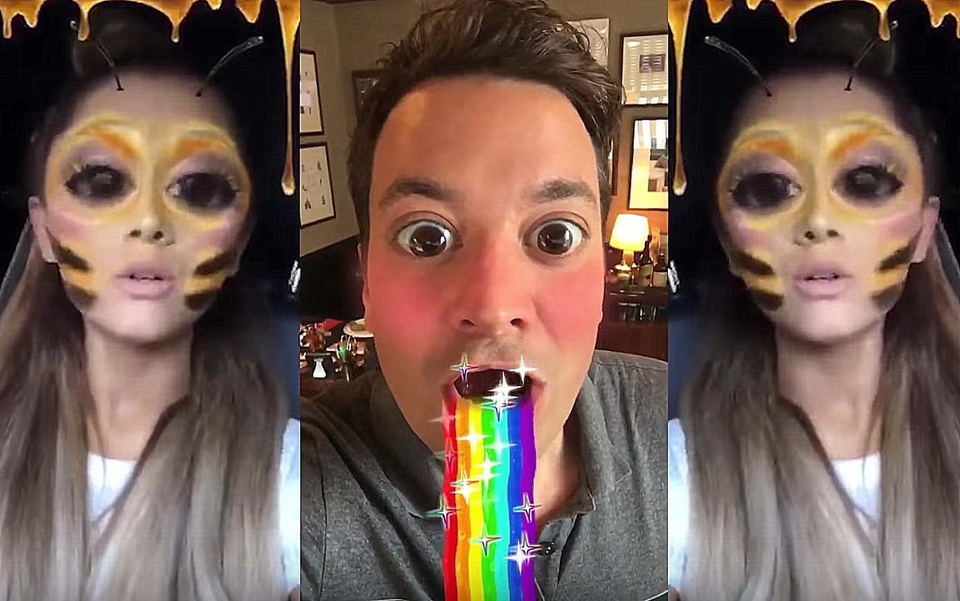 Jimmy Fallon and Ariana Grande have a lot of fun on Snapchat