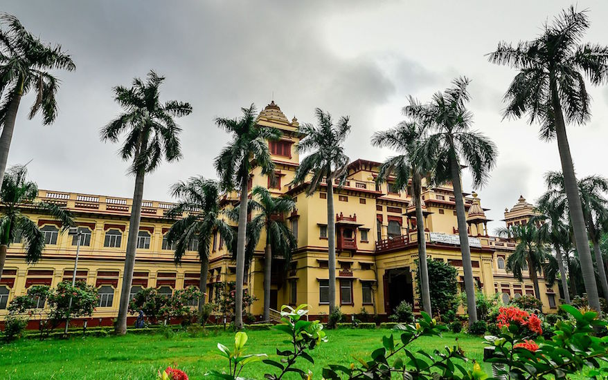 The central library at Banaras University where a student has been allegedly raped