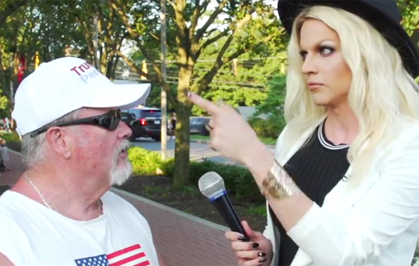 Courtney Act meets Donald Trump supporters in new video