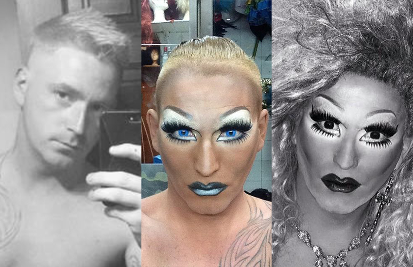 Drag Queen Ginger Rogers can be found at Katie's Bar in Glasgow, Scotland