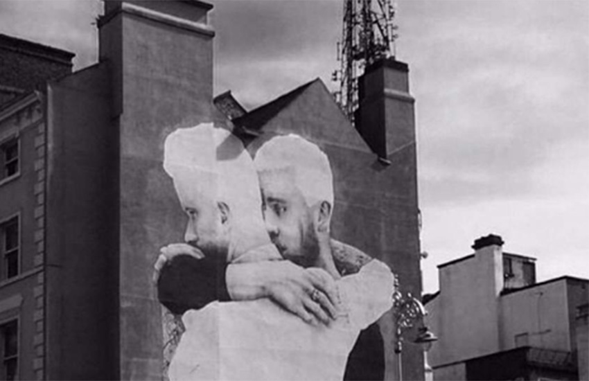 Last year, Caslin's four-story mural in Dublin went viral