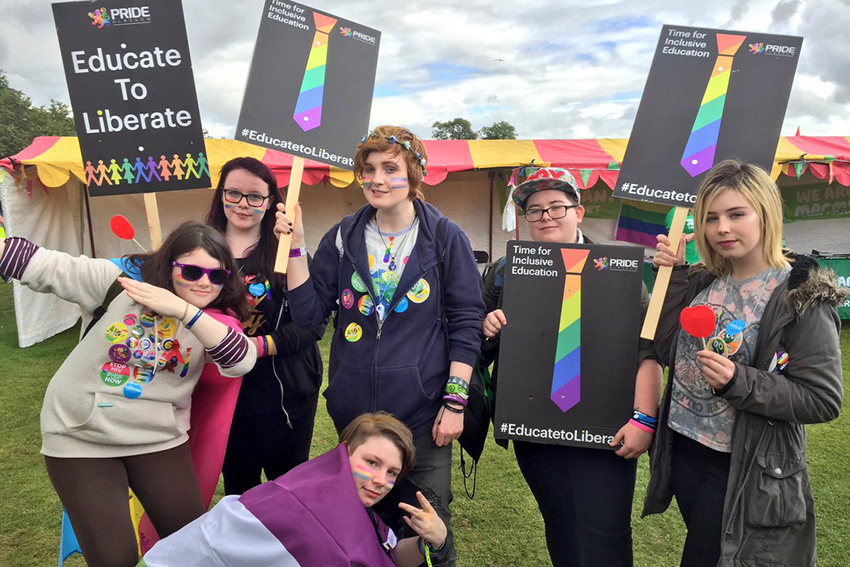 Glasgow Pride demanded more help for LGBTI young people facing bullying.
