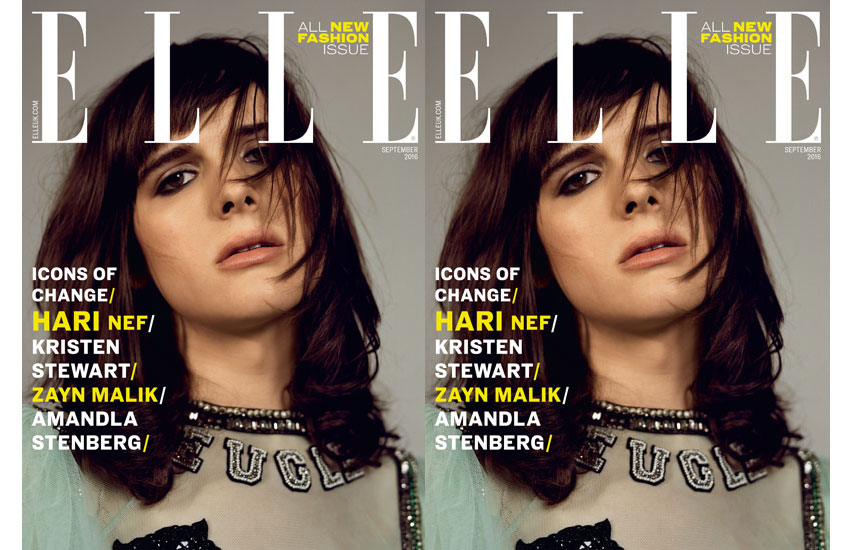 Hari Nef poses up a storm in the new issue of Elle UK