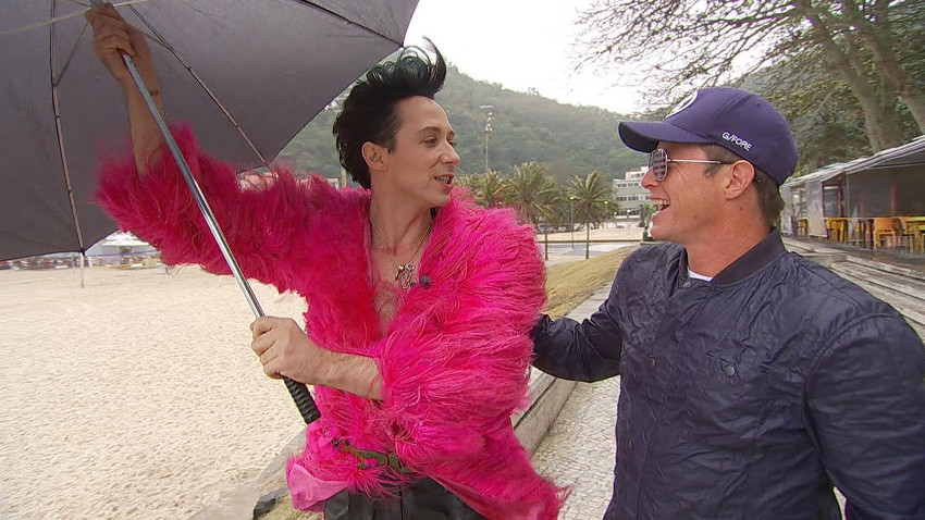 Johnny Weir has had many hairstyles while covering Rio Olympics for NBC.