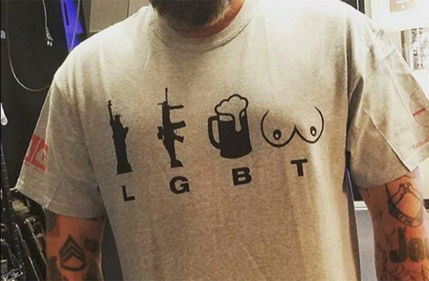 LGBT now stands for 'liberty, guns, beer and tits'