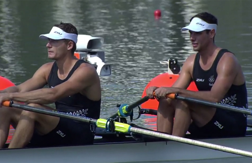 Robert Manson (right) and his crew mate came third in a 'sensational' semi final