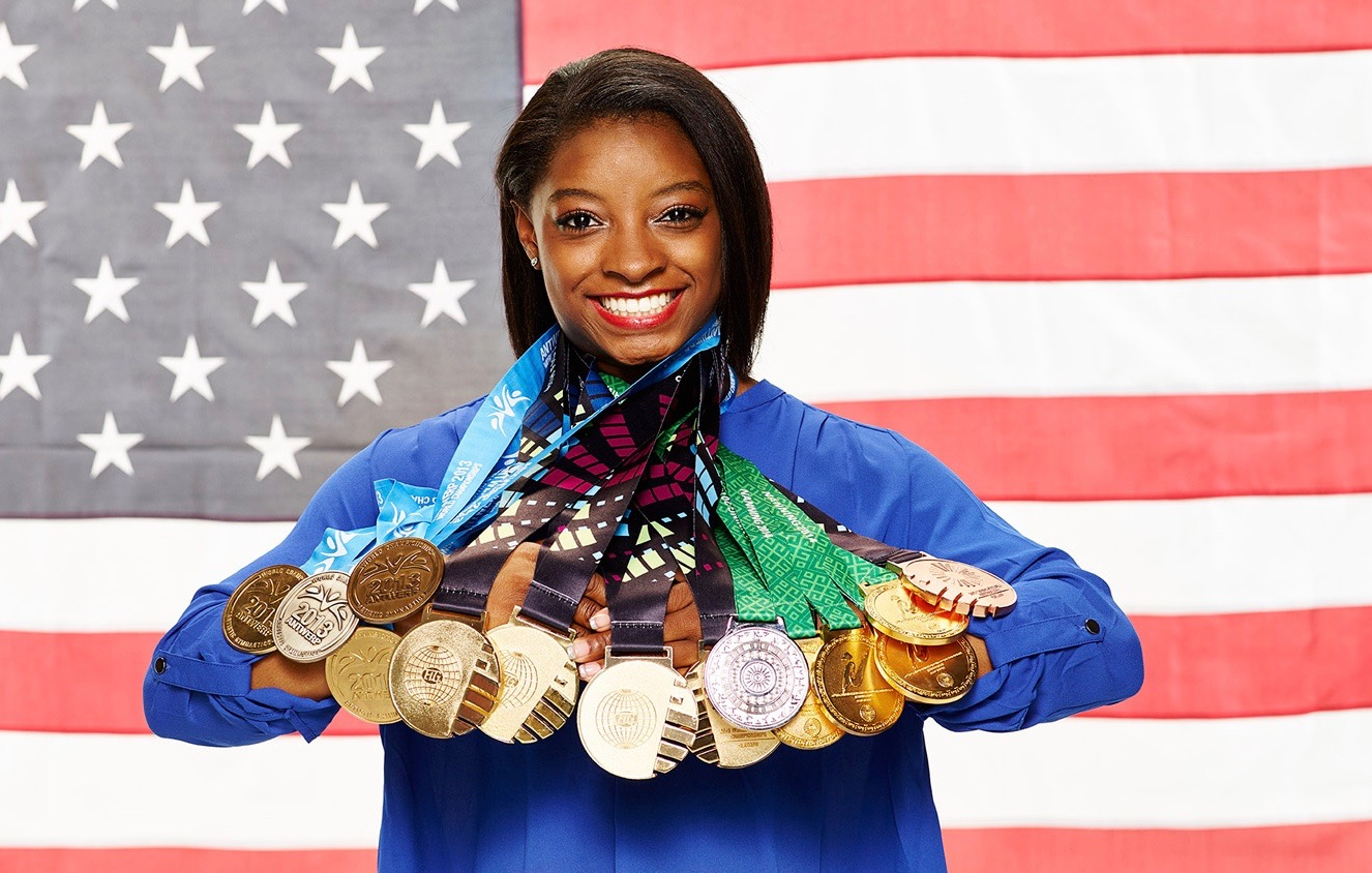 US gymnast Simone Biles earns her third gold at Rio