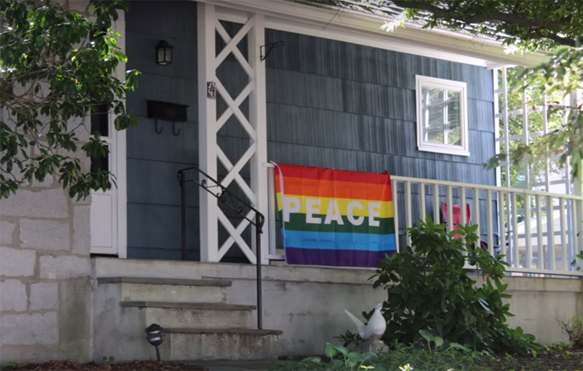 Rainbows are everywhere in this Boston neighborhood