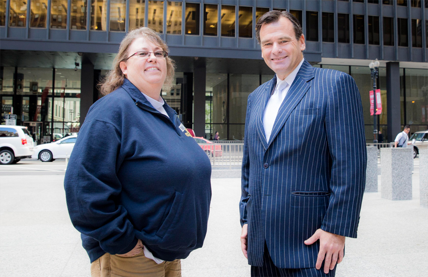 Kimberly HIvely and her lawyer, Greg Nevins of Lambda Legal