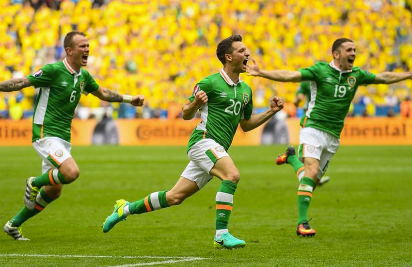 Norwich City players celebrate after a goal during a recent UEFA Euro 2016 game