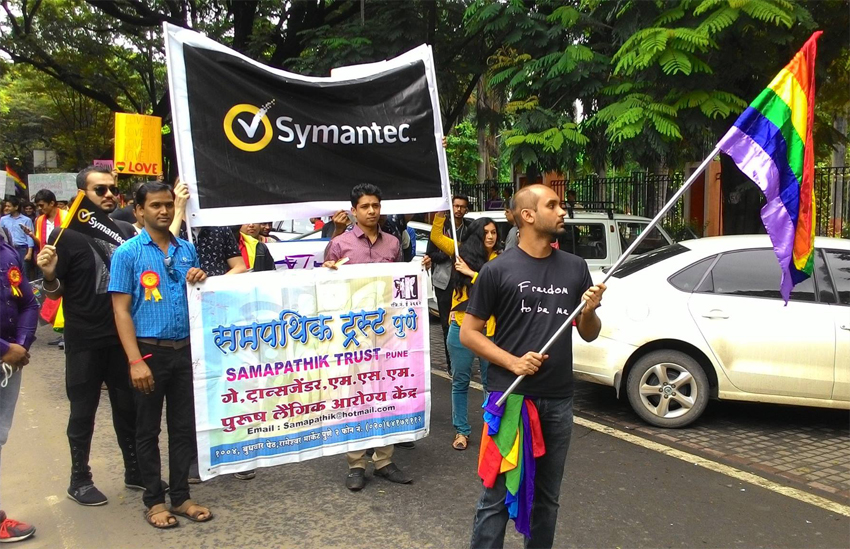 Symantec representatives were among those to join the Pune Pride walk in India