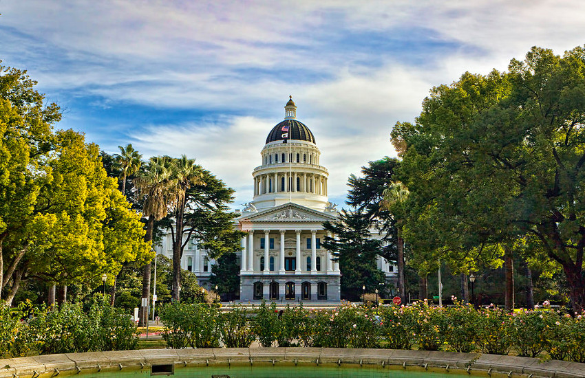 The California State Capitol building in Sacramento