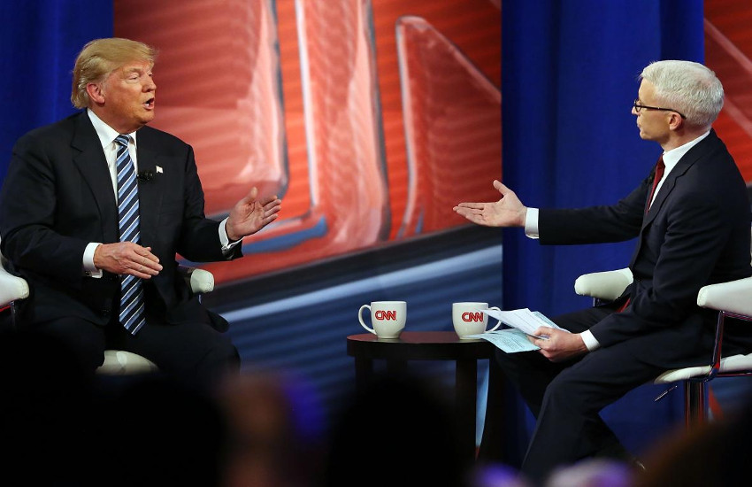Donald Trump has faced the questioning of Anderson Cooper in the past.