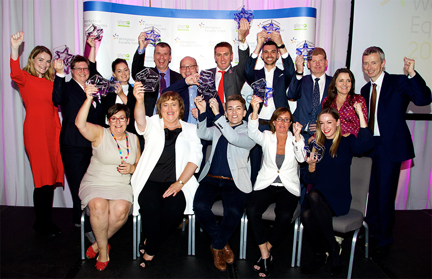 Winners at the second Ireland Workplace Equality Awards in Dublin yesterday