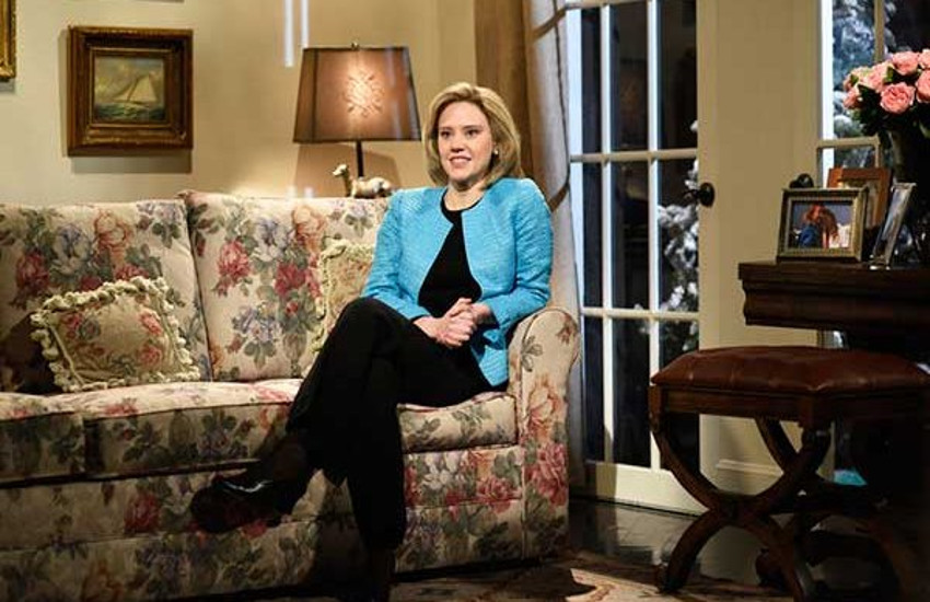 Kate McKinnon in one of her many sketches as Hillary Clinton.