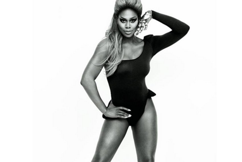 Laverne Cox poses as Beyoncé in Cosmo spread
