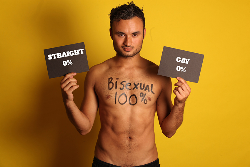 Lewis Oakley is fighting for bi visibility | Photo: Supplied