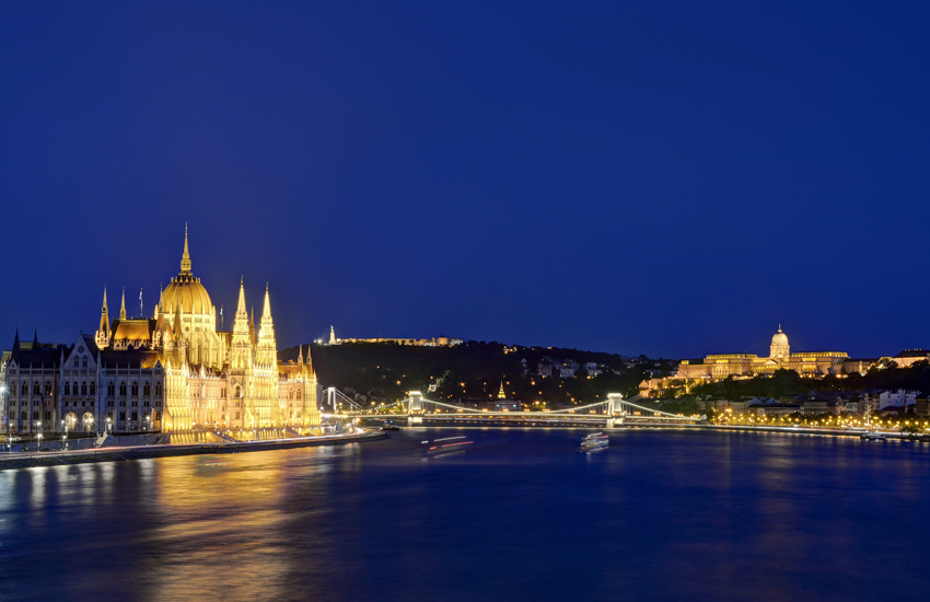 The Hungarian Parliament Building [left] and Buda Castle, two of Budapest's most stunning icons Budepest