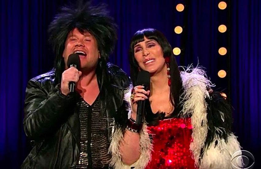 James Corden wore Cher wig to duet with the pop icon.