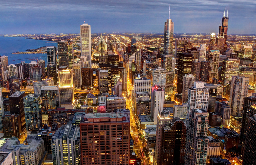 The incredible Chi-town skyline boasts 116 skyscrapers...