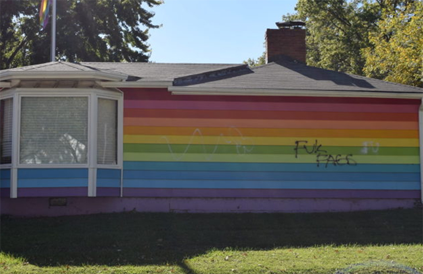Equality House in Topeka, Kansas was hit in homophobic attack earlier this year