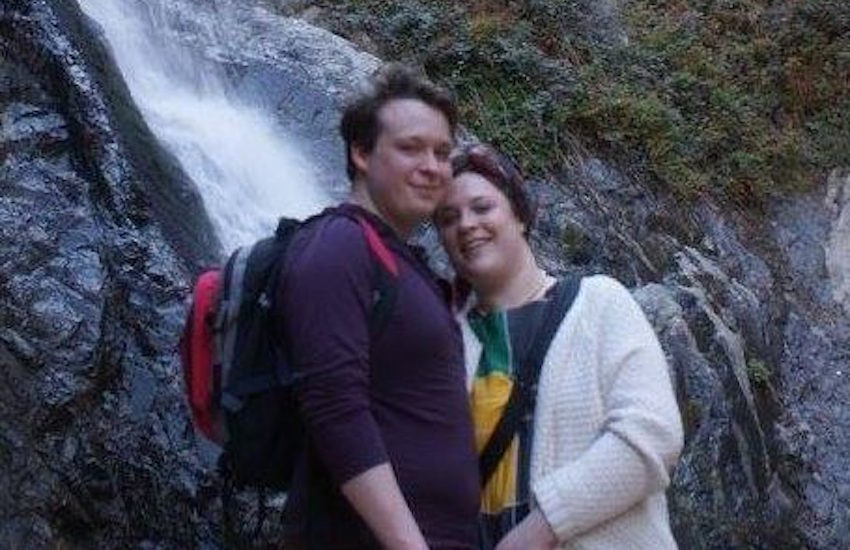 Adeline Cosson, 24, and Kieran Hodgson, 22, have become the first couple to become civil partners in the UK thanks to a new law in the Isle of Man