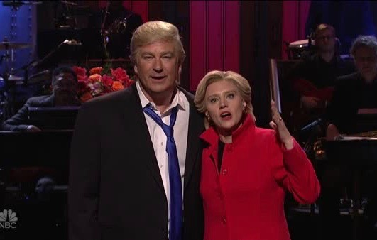 SNL's Kate McKinnon and Alec Baldwin urge everyone to relax and vote