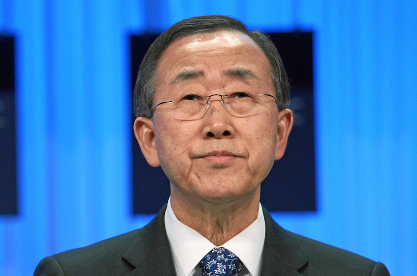 Pictured: UN Secretary-General Ban Ki-moon. It is hoped the envoy would correct some of the problems faced by LGBTI people in Africa.