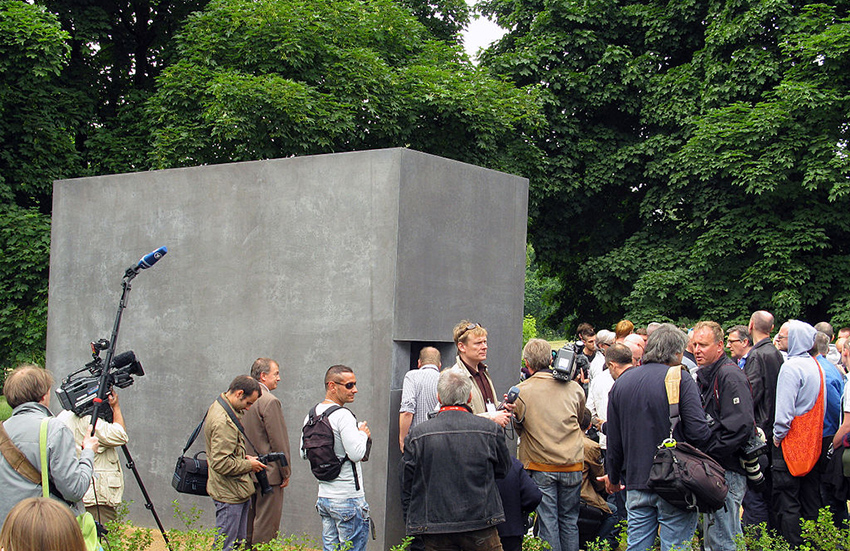 The memorial to gay victims of the Nazis, Berlin