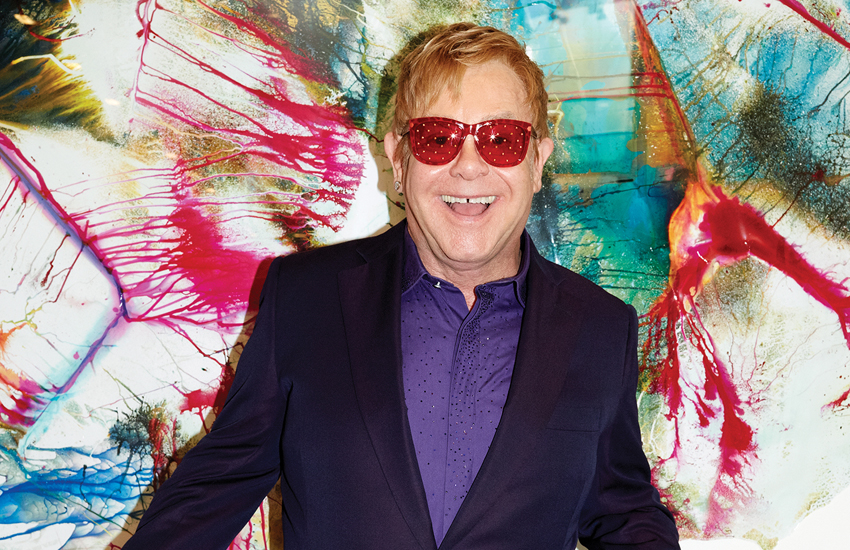 Elton John on the cover of this year's album Wonderful Crazy Night