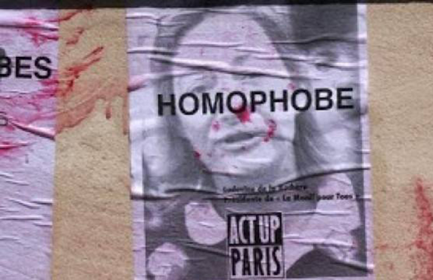These posters were declard 'insulting' by a Paris court