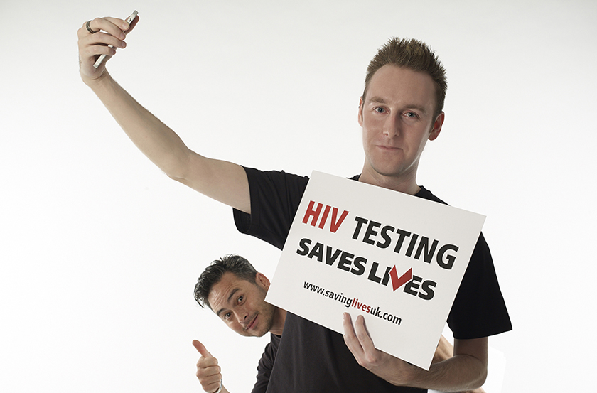 Tom Hayes calls for people to test for HIV.