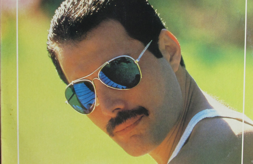 Freddie Mercury and his famous moustache on the cover of 1985's Mr. Bad Guy