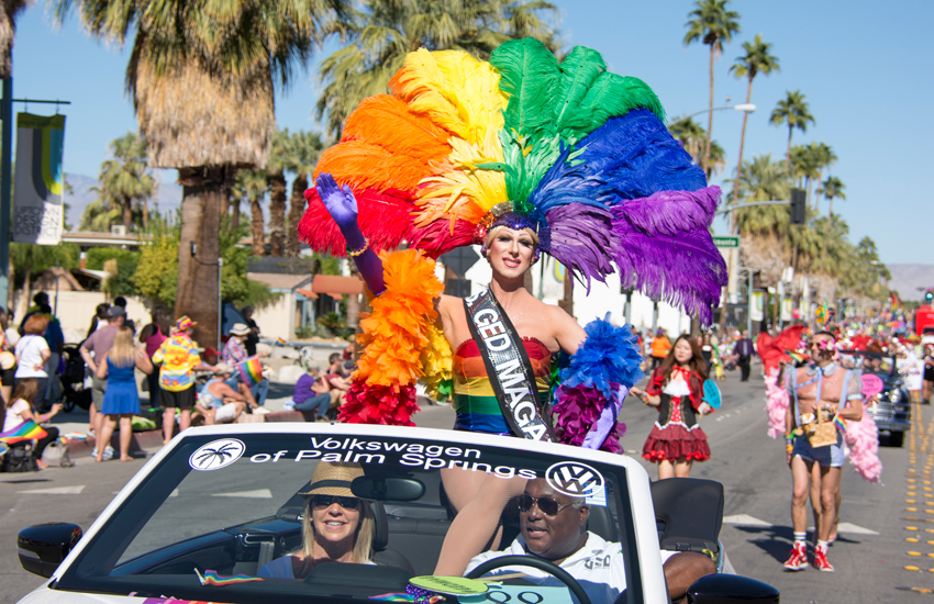 Revelers at last year's Greater Palm Springs Pride