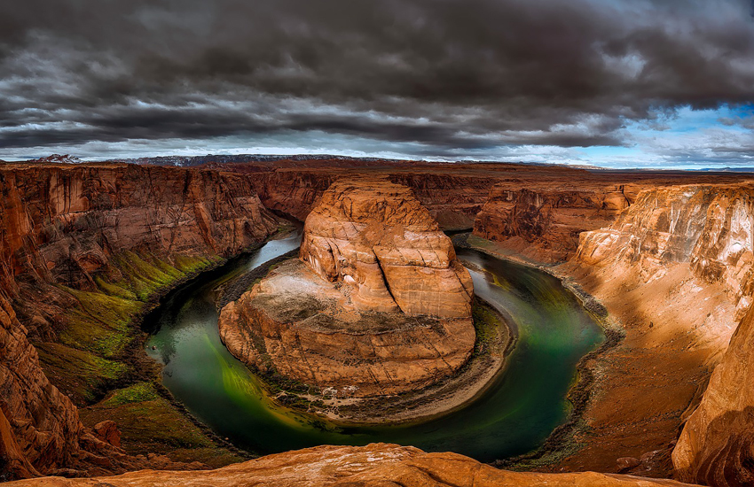 The Horseshoe Bend in Arizona is one of the most photographed spots on the Colorado River