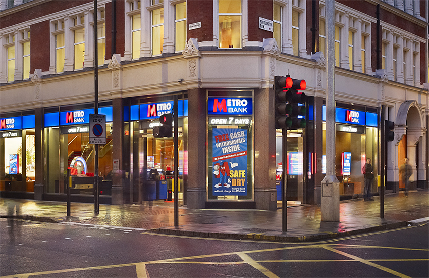 Metro Bank promotes itself as an alternative to other high street banks in the UK