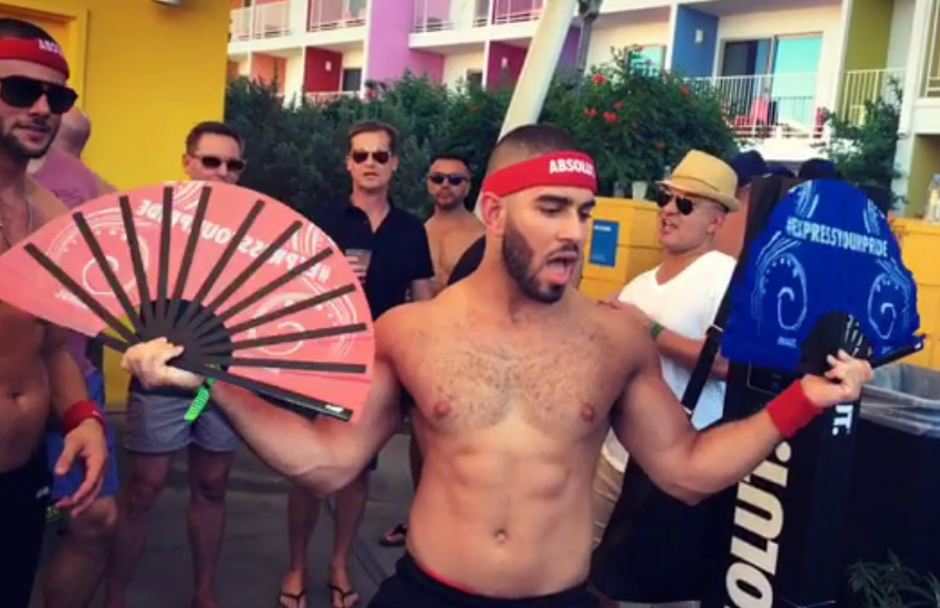 Instagram star Jasson Jarez at a Palm Springs Pride pool party