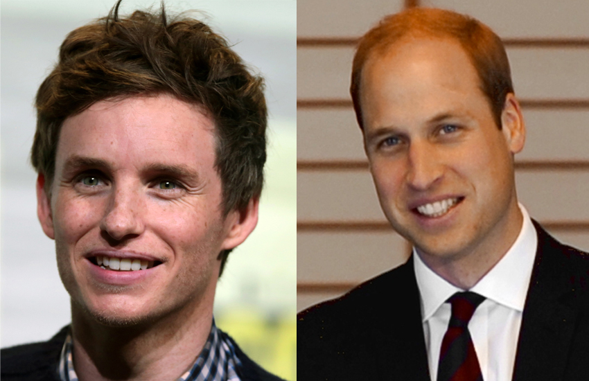 Oscar-winner Eddie and the Duke of Cambridge are on intimate terms