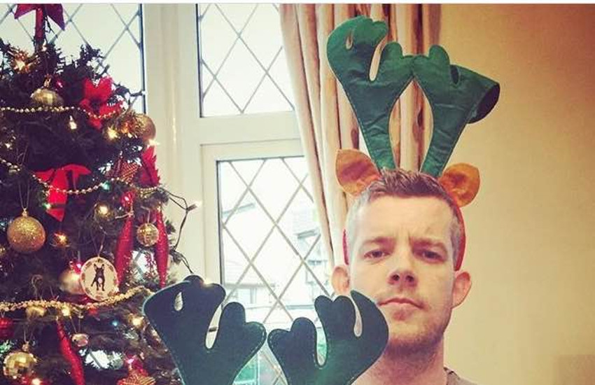 Russell Tovey makes for a sexy reindeer in this Christmas Day Instagram pic.